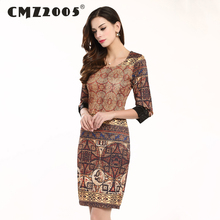 Hot Sale Women's Apparel High-Quality Printing Half Sleeves Round Neck Fashion Retro trend Autumn Dress Personality Dresses 269