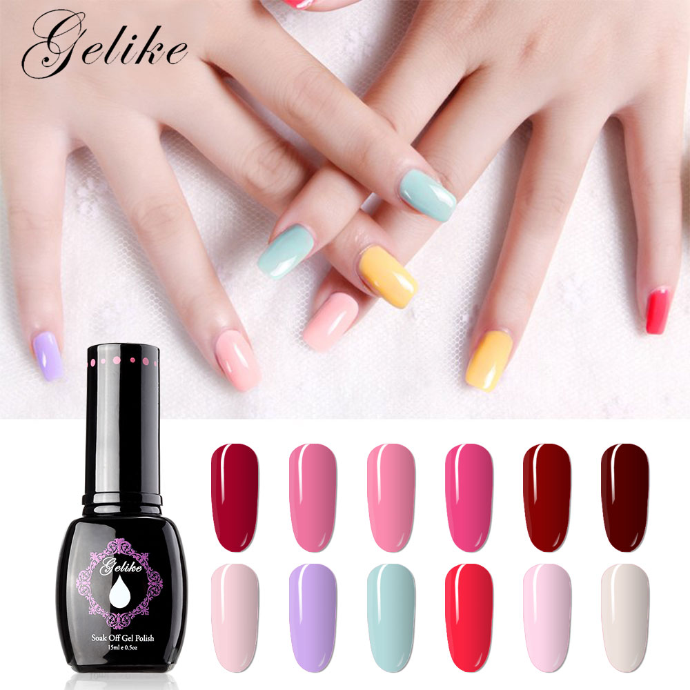 Gelike 15ml Last For 4 Weeks Gel Polish LED UV Soak off Nail Art