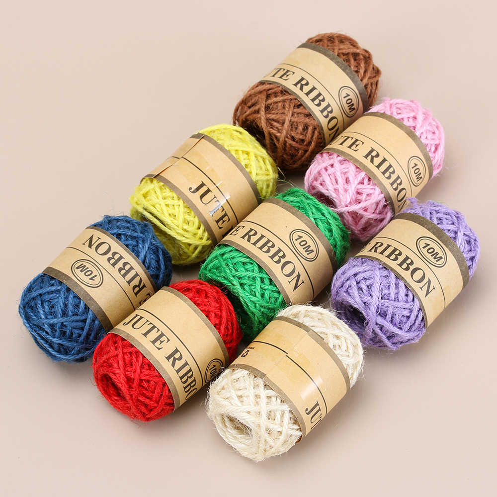 New 10 m Super Natural Jute Twine DIY Rope Cord Hemp Ropes String Rustic Packing String Wedding Home Textile Garment Decoration