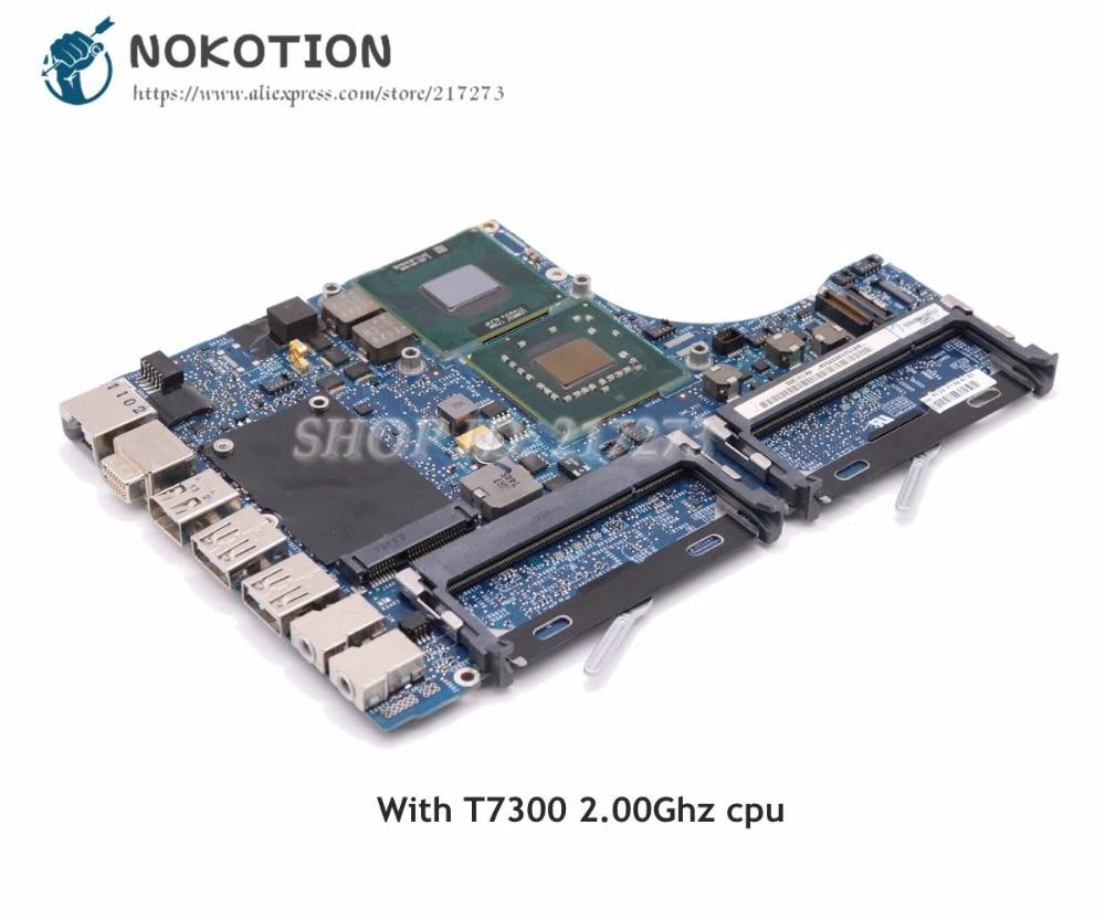 NOKOTION pour MacBook pro A1181 carte mère d'ordinateur portable 2008 an T7300 2.00 Ghz 965GM 820-2279-A carte mère