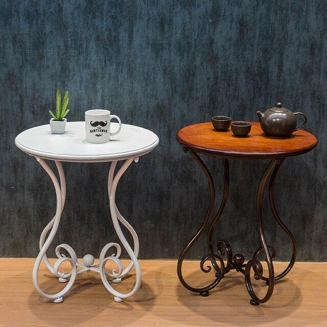 US $76.0 |Continental Ferro tavolino tavolino rotondo divano del soggiorno  balcone camera da letto minimalista pochi tavolini teasideend in ...