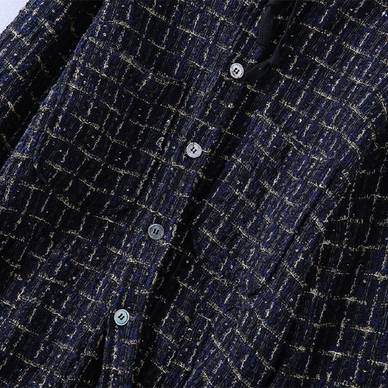 Automne Dames Plaid Nouveau Casual Taille Laine Manteaux Manteau À Femmes Mens Chic 2018 Vestes La Capuchon Plus amp; Hiver Vintage OOfHEPnq