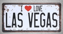 1 pc I love Las Vegas casino America  USA Tin Plates Signs wall man cave Decoration Metal Art Vintage Poster