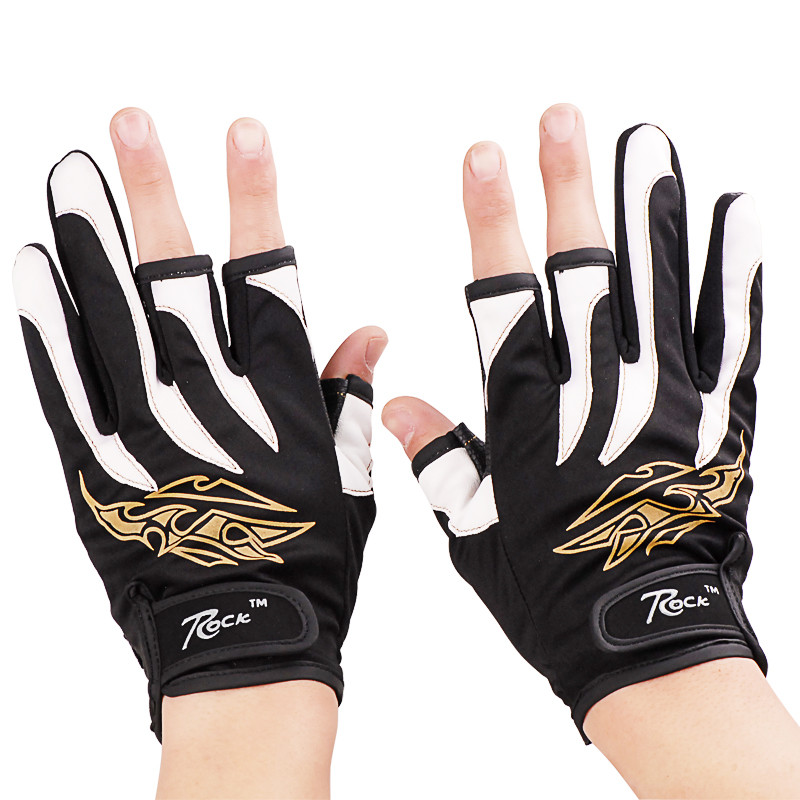 Gloves With Fingertips Out: Free Shipping 3 Cut Finger Fishing Gloves Outdoor Sports