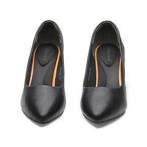 """Image 3 - YALNN גבוהה עקבים שחור אופנה נשים מנ""""צ בוגר מזדמן אישה האביב/סתיו משאבות בנות נעלי מסיבת הבוהן מחודדת דק גבוהה עקבים"""