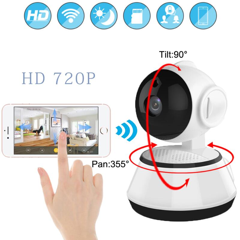 купить LESHP Baby Monitor Mini IP Camera 720P HD 3.6mm Wireless Smart WiFi Baby Camera Audio Record Surveillance Home Security Camera недорого