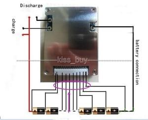 Image 4 - 10 s 36 v Li Ion Lithium Zelle 30A 18650 Batterie Schutz BMS PCM Bord ausgang Balance Ausgewogene licht für Elektrische fahrrad bike