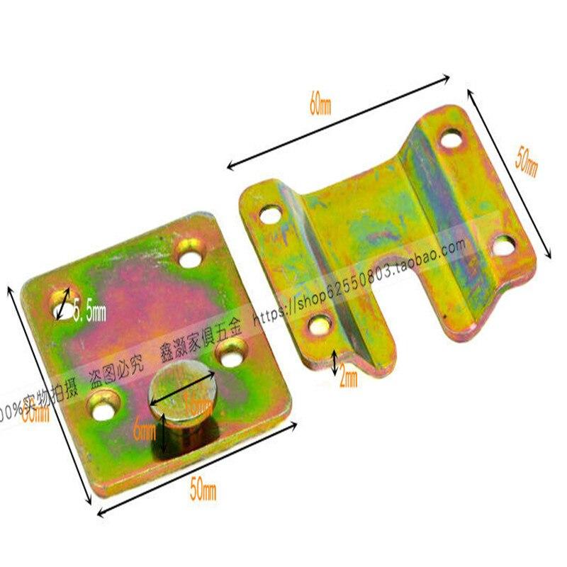 Gemotiveerd 60-50mm Verdikking Meubels Fittings Bed Opknoping Gesp Sofa Coupon Ijzer Spiegel Haak Gesp Insert Frame Accessoires