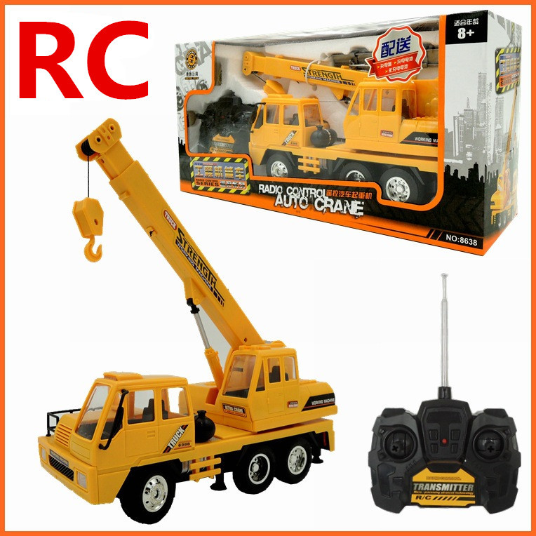 1:26 Remote control crane,Electric engineering vehicles,4-channel car,Wireless RC model toys,Oversized toy car,free shipping