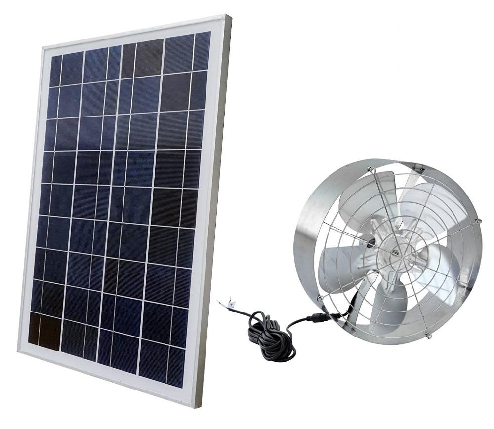 Solar Power Attic Gable Fan With 65 Watt 18 Volt Efficient