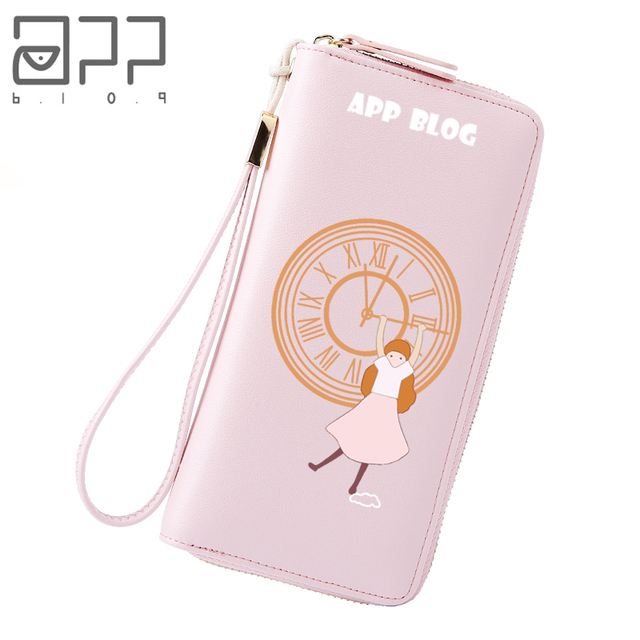 app blog designer funny clock small wallet for women girl teenager clutch coin purse card holder - Card Holder App