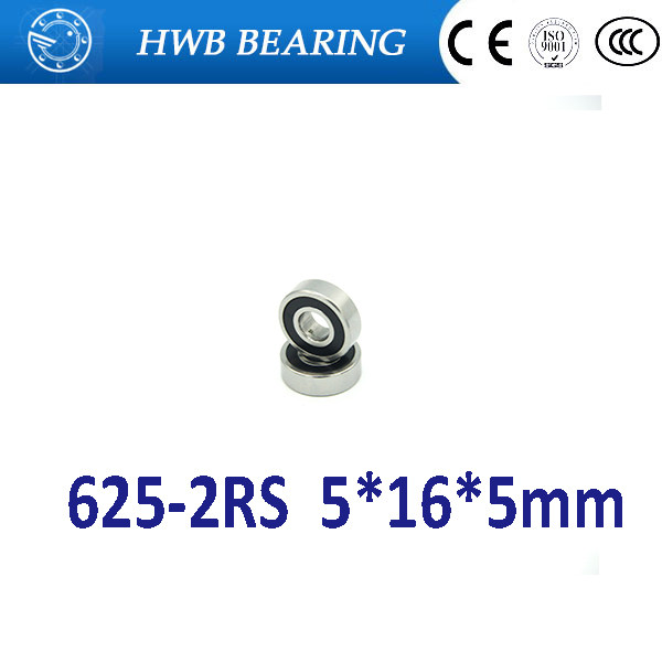 50pcs free shipping double Rubber sealing cover deep groove ball bearing 625-2RS 5*16*5 mm 625 RS / 625RS 608 2rs 608rs 608 2rs 8mmx22mmx7mm double purple rubber sealing cover deep groove ball bearing for skate scooter abec 9