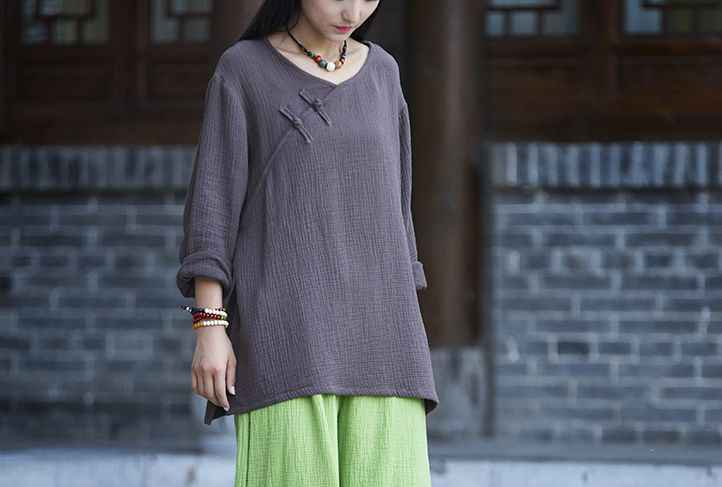 women cotton&linen tai chi suit long sleeve taijiquan uniforms zen nun lay kung fu martial arts shirts Spring&Summeryellow/pink