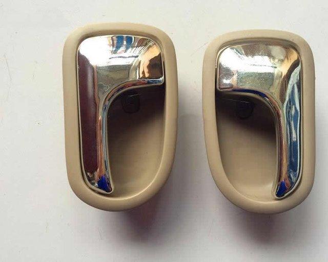 Inside Door Handle For Mazda 323 1995-2003 Car Door Handle Auto Inner Handle Right and Left(Beige)