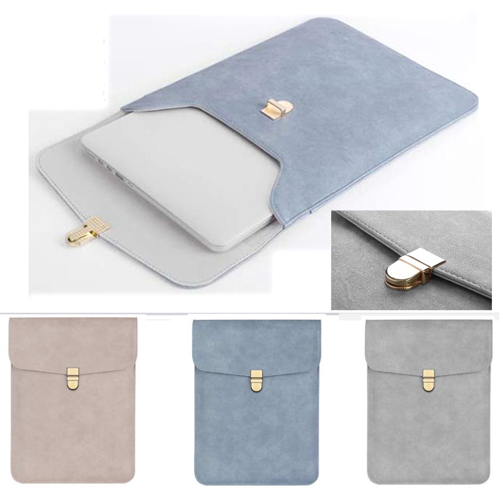 цена на Notebook Bag 12 13.3 15.6 inch for macbook air 13 case Laptop Case Sleeve for macbook pro 13 Pu Leather Women 14 inch