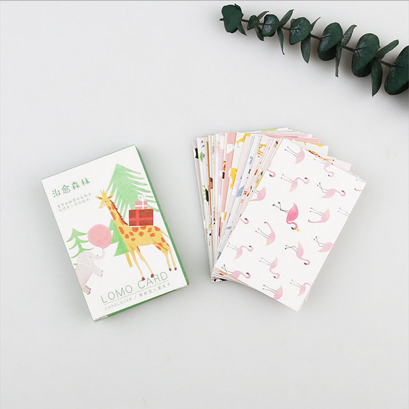 все цены на 28 pcs/set Lovely forest small animals mini card greeting card lomo message memo card kids gift postcard kawaii stationery в интернете