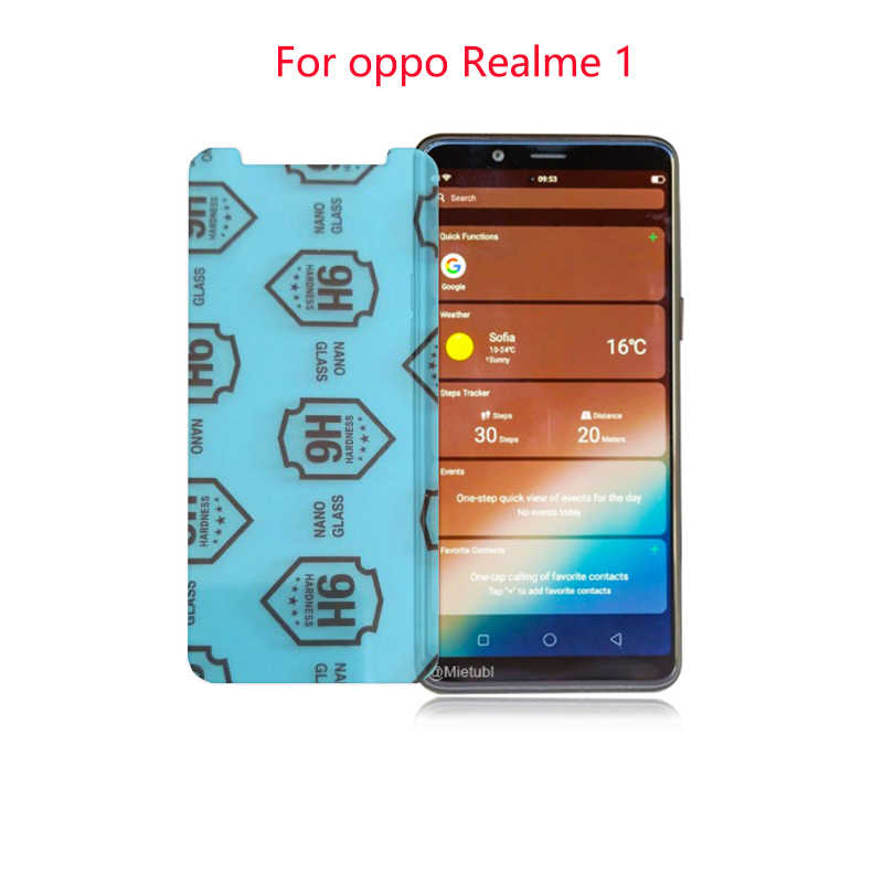 2 Pack для OPPO REALME 1 Carbon Fiber 9 H Plexiglass защита экрана