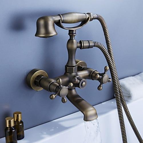 2017 Wholesale Luxury Antique Brass Wall Mounted Bathtub
