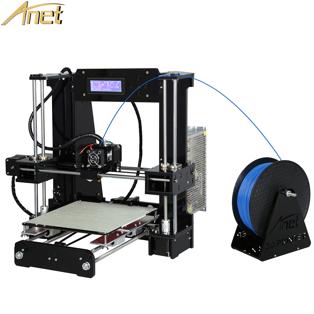 2018 Update Anet A8 Auto Leveling A6 3d printer Aluminum Headbed Reprap i3 3d printer DIY Kit with 10m Filament 8G Card цена