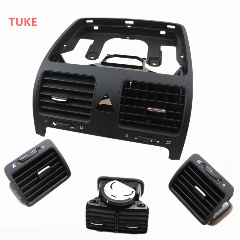 TUKE 1 Set Black ABS Air Conditioning A C Outlet Vent For VW Rabbit Golf Gti