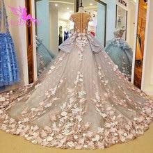 AIJINGYU luksusowy kryształ suknia ślubna seksowna suknia 2021 2020 Bridal z rękawami tanie sklep suknia niemcy Plus rozmiar suknie ślubne