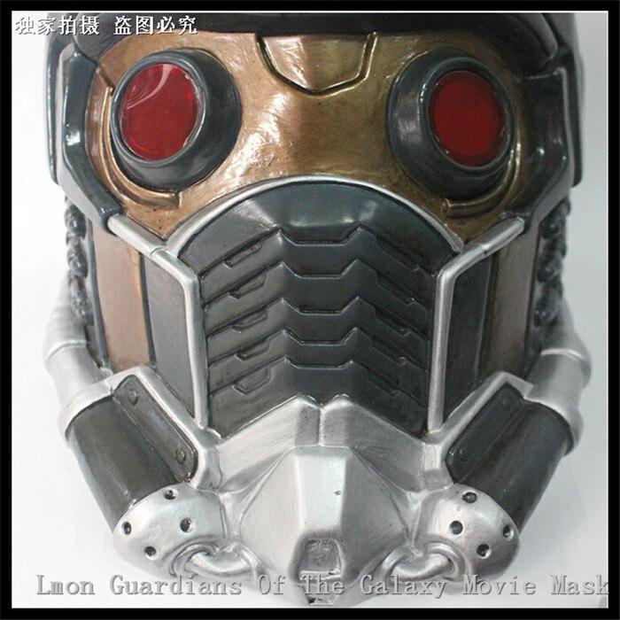 Fête Cosplay étoile seigneur masque avec lueur Glasse gardiens de la galaxie Cosplay casque PVC pleine tête Halloween Costume accessoires