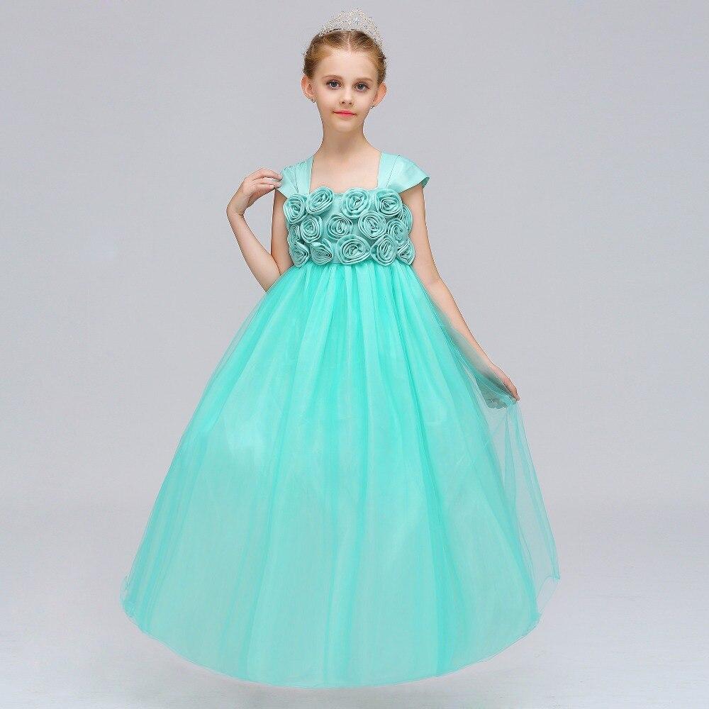 Fancy Kids Girl Wedding Flower Girls Dress Princess Party Pageant ...