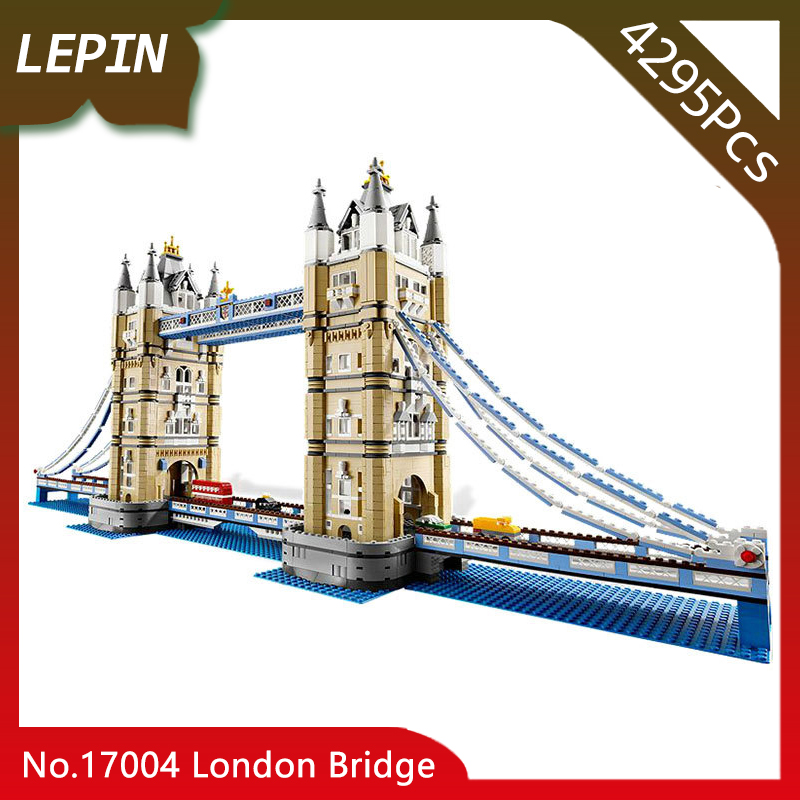 Doinbby Store  17004 4295pcs Street View Series London Bridge Building Kits s Blocks Bricks For Children Toys 10214 Gift