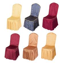 Hot 1PC Chair Cover Stretch Elastic Dining Seat Cover for Banquet Wedd