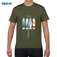 GILDAN DIY Style Mens T Shirts 2017 Summer Colorful Surfboards Collection Personalized Custom Design T Shirt
