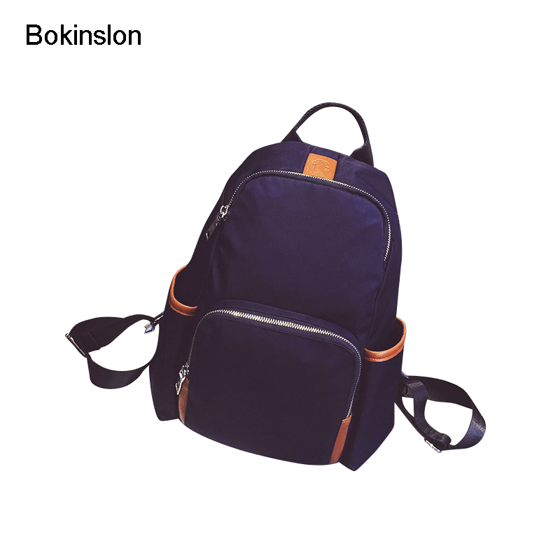 где купить Bokinslon Backpacks Girl Bags Fashion Nylon Soft Surface Backpack Individuality Women Casual College Wind Ladies Backpacks по лучшей цене