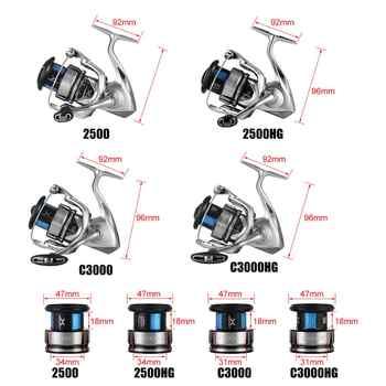 2019 SHIMANO STRADIC FL 1000 2500 2500HG C3000HG C3000 4000MHG C5000XG Spinning Fishing Reel 9KG HAGANE X-PROTECT Saltwater Reel
