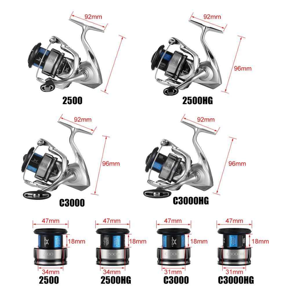 2019 Shimano Stradic Fl 1000 2500 2500HG C3000HG C3000 4000MHG C5000XG Spinning Vissen Reel 9Kg Hagane X-PROTECT Zoutwater Reel