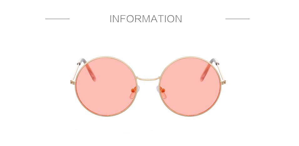 Women's Round Mirror Sunglasses 6