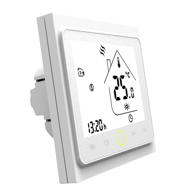 Programmable Thermostat Water/Gas Boiler Heating Thermostat LCD ...