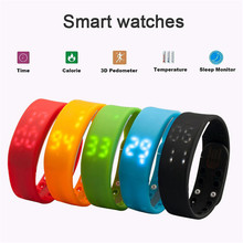 USB W2 SmartBand браслет время Дисплей Смарт часы с калорий 3D шагомер Температура Sleep Monitor Водонепроницаемый браслет Вах