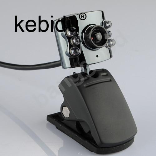 Kebidu 30 0 Mega Pixel Usb 2 0 Camera Webcam 6 Led Light