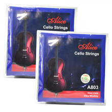 2 Sets Alice A803 Cello Strings Steel Core Alloy Winding A-1 D-2 G-3 C-4 New