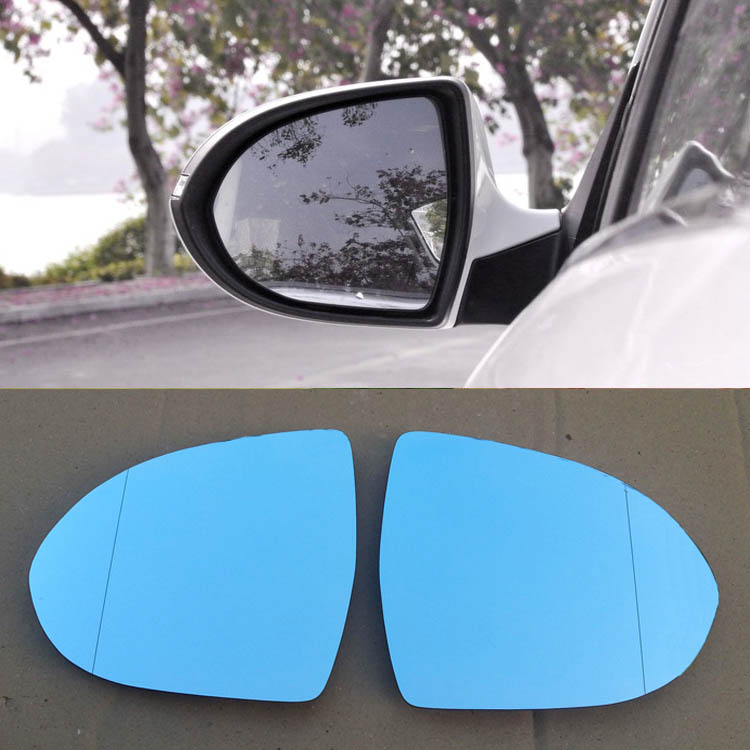 Ipoboo 2pcs New Power Heated w/Turn Signal Side View Mirror Blue Glasses For Kia Sportage