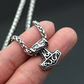 Viking Small Tiny Thor's Hammer MJOLNIR Pendant Necklace  Viking Necklace