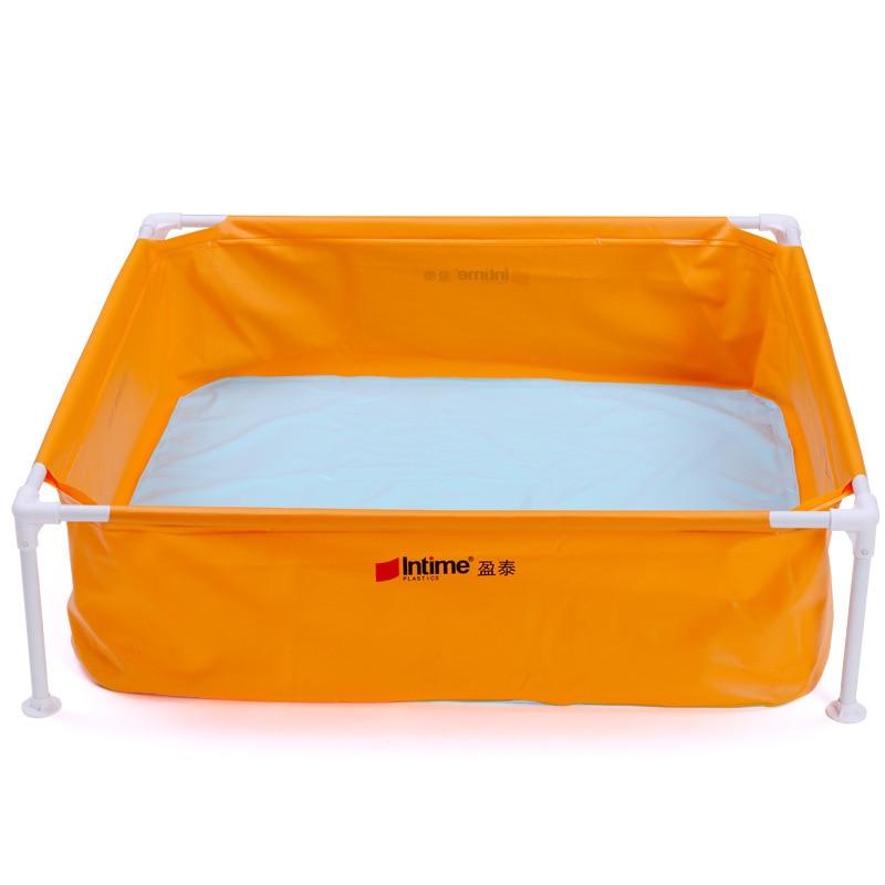 2016 enfants bébé piscine Piscina infantile Portable extérieur bassin baignoire pour bain pêche support piscine taille 128*128*35 cm
