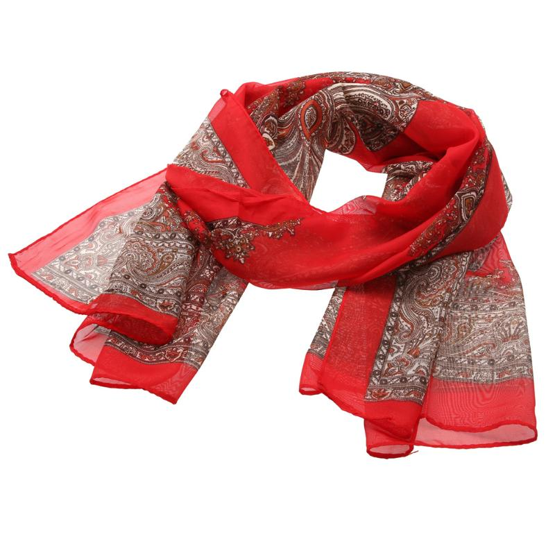 scarf women winter scarf Wholesale Price Wonderful Chiffon Flora Long Soft Scarf more color 160cm Wrap Shawl Stole For Stylish
