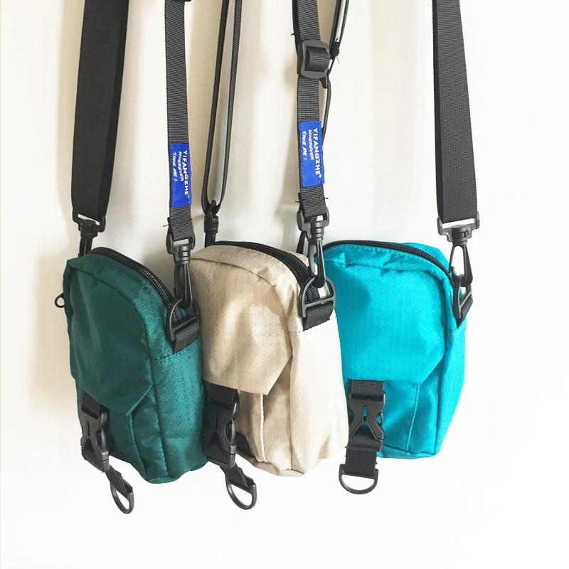 Waist Pack with Zipper Cross Body Waterproof Belt Sports Travel Cell Phone Pouch Men and Women Mini Crossbody Shoulder Nylon Small Messenger Bag Handbag Purse for Phones Money Passport Mobile Wallet