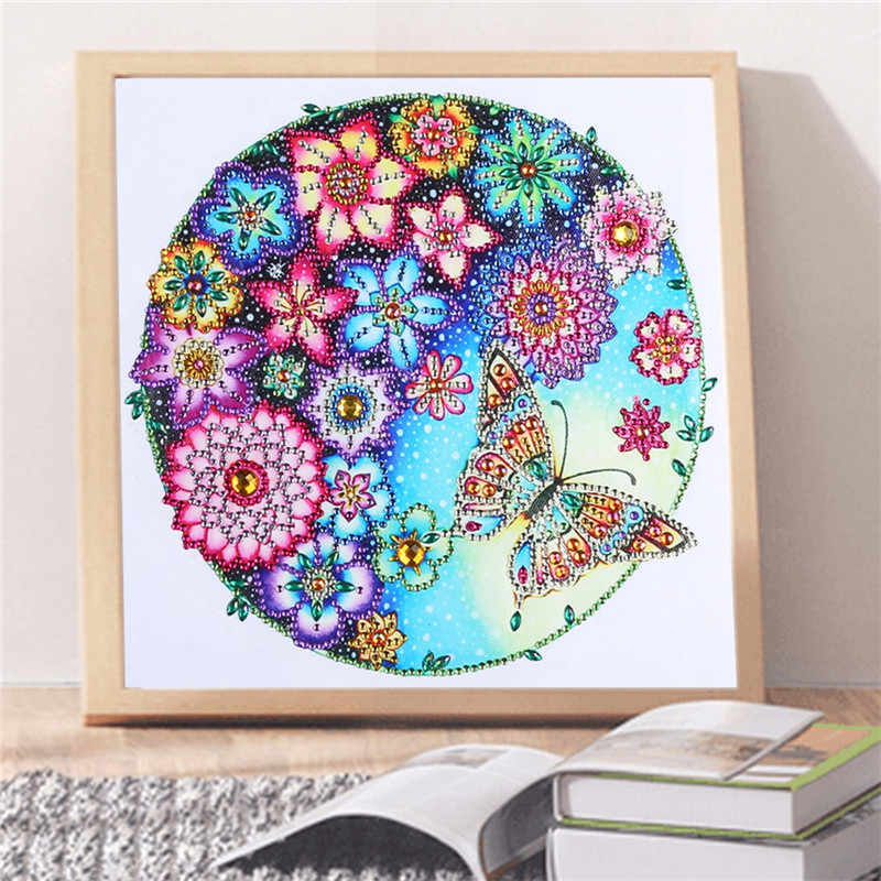 Butterfly flower animal new arrival DIY Crystal special shaped drill  5D diamond painting cross stitch kit round rhinestone gift