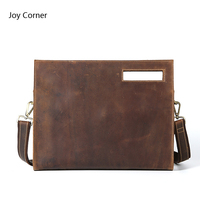 Joy Corner Document Bag Leather File Folder Office Supplies Organizer 35 6 5 28 Cm
