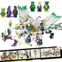 Classic Cartoon Image legoINGly Ninjagoe Four headed Dragon Building Blocks action figures Bricks Children Toys juguetes Gift