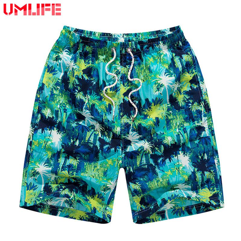 UMLIFE Beach Shorts Men Swimwear 2019 Mens Swimming Plus Size Bermuda Trunks Brief Surf Board