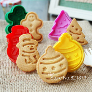 Us 14 14 7 Off Free Shipping Christmas Decorations Tree Snowman Gingerbread Man Cookie Mold Stamp Cutter Press Diy Cookies Decoration For Sale In