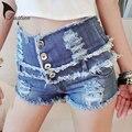 2016 женщин шорты летом высокой талией стретч джинсовые шорты свободного покроя танцора шорты старинные эротические Clubwear