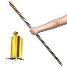 110 см длина появляющаяся тростниковая Серебряная дубинка металлические Волшебные трюки для профессионального волшебника сценической улицы крупным планом иллюзия